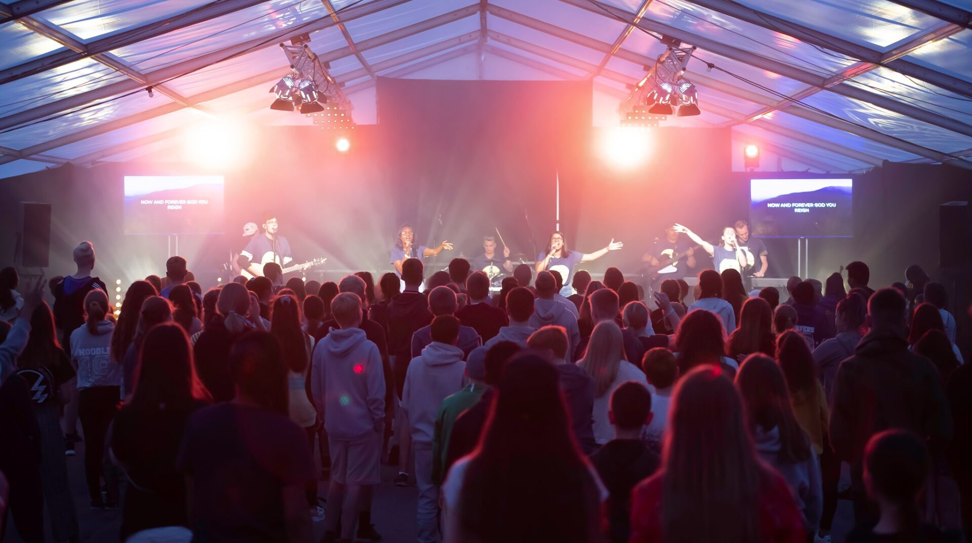 Rivercamp Worship in Tent